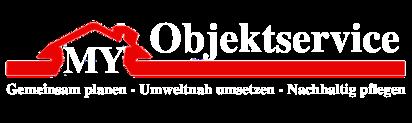 my objektservice logo white